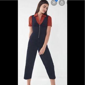 BDG April Corduroy Zip Front Jump Suit